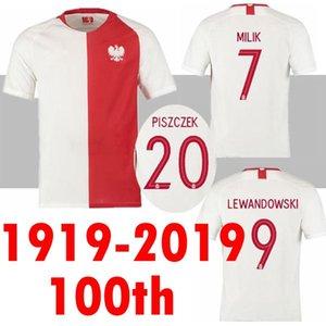 2019 100 aniversario JERSEYS DE FÚTBOL Edición limitada LEWANDOWSKI 9 ZIELINSKI 20 PIATEK 23 MILIK 7 GLIK 19 20 CAMISA DE JERSEY