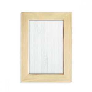 DIYthinker Blanc Veines De Bois Motif Fond De Bureau En Bois Cadre Photo Image Peinture Art 5x7 pouce