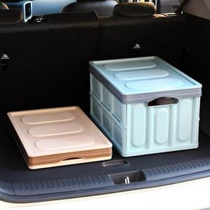 30L LargeCar Магистральные Складная автомобилей Коробка для хранения Организатор Пластиковый корпус Многофункциональный внедорожник Storage Box Auto Organizer Новое прибытие с быстрым кораблем
