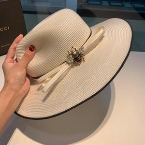 2019 Nuovo marchio di vendita caldo famoso cappello da sole del sole del progettista cappello da sole spiaggia viaggio signora cappello di paglia scatola di corrispondenza