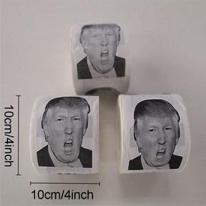 شخصية ترامب دونالد ورق التواليت لفة الأزياء مضحك مضحك طباعة منديل الإبداعية الكمامة هدايا اللون مرحاض التنظيف ورقة BH1933 WCY