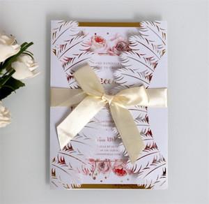 Cartão de Estilo de Pena branca Oco Para Fora O Cartão Do Convite Do Casamento Envelope De Papel Kraft Moda Venda Criativa Bem Brancos Cor 2 6dd J1