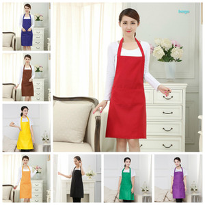 Cozinha o avental cor sólida Kitchen Apron Restaurant Aventais For Women Início mangas Avental 10 cores Atacado customizável DBC BH2667