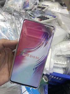 Pour Samsung Galaxy s4 s5 s6 s6edge s7 s7edge s8 s8plus s9 s9plus clair doux TPU Case ultra-mince absorption des chocs Transparent Couverture arrière
