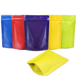 100pcs opaca multicolore a chiusura zip piedi pacchetto borsetta mylar confezionamento conservazione degli alimenti imballaggio sacchetto resistenza ossigeno sé cerniera