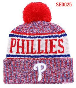 2019 Moda Kasketleri Kış kap Yüksek Kalite Spor Örgü şapka Erkekler Kadınlar Kafatası Cap Phillies bere Pamuk Tüm Ekipleri beyzbol Şapkaları