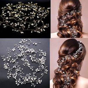 1PC Simulierte Perlen-Haar-Accessoires für die Braut Kristallkronen-eleganten mit Blumenhaarschmuck Hairpin Hochzeit Kopfschmuck