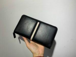 Spring and summer 2020 new men's and women's top calfskin long handbag 12 card size 21 * 11cm 107154
