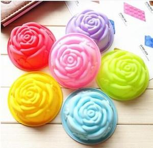 Toptan 8 cm Kore Gül 60 ml el yapımı Sabun kalıpları FDA sınıf Silikon Kek muffin Kalıpları Bakeware aracı