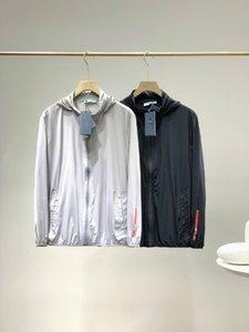 20SS vestes d'été manteau hommes veste rue européenne partie double couche design haut de gamme personnalisés Collets de protection solaire confortable