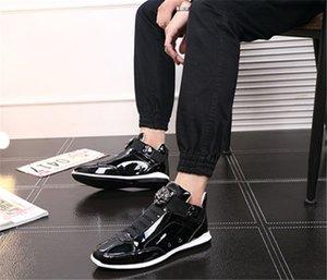 С Box 2019 Горячей продажи Корейских модного модельером обувью сек серебро золотого черным блестящим ярким Mr. стильных красным ковром предпочтительного качеством обувь
