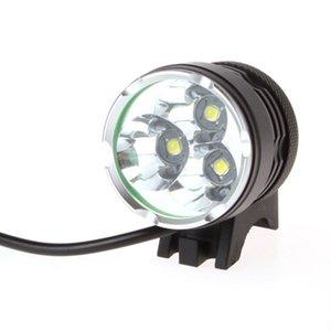 4000 루멘 3 배 XM-L T6 LED 헤드 라이트 3T6 헤드 램프 자전거 자전거 빛 방수 손전등 + 6400mah 배터리 팩 무료 배송