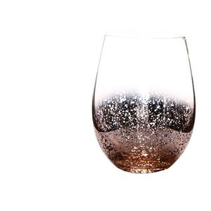Verre sans plomb 20 onces sans cristal Coquetier vin Tumbler moderne de grande capacité Ion-plaqué Rainbow Room Transparent Living Craft Ménage EEA1290-5