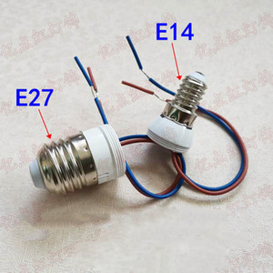 E14 E27 piombo Holder alimentazione della lampada Titolare 220V E14 E27 a vite con filo di plastica Portalampada per Crystal Lighting Modification
