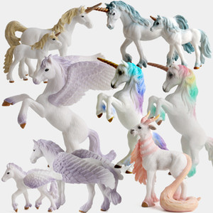 PVC Unicorn Statue Home Decor Crafts Room Decoration Objects Vintage Horse Ornament Animal Figurines Gifts Party