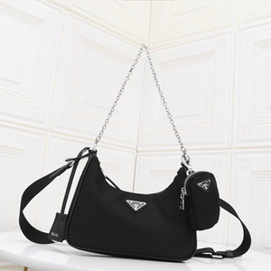 2020 Ladies new Nylon messenger bag three-in-one action bag fashion leather shoulder portable handbag casual retro underarm tote phone bag