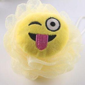 Cartoon emoji bagno forma spugne da bagno fiore Super bambini molli bagno forniture palla bagni a casa per i bambini FFA3255