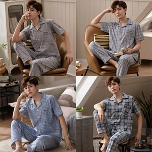 fDbGo short-sleeved trousers home clothes summer thin 82-01-82-06 Men's short-sleeved trousers cotton pajamas home clothes pajamas men's su