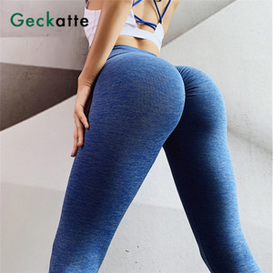 Geckatte push up seamless high waisted training leggings woman fitness sport gymwear yoga pants for women 2020 activewear mujer Y200529