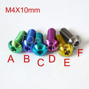 Hex Socket Head Titanium Screws Fasteners M4 x 10mm Titanium Bolt Road Bike Mtb Bike Multicolor DIY Titanium 12 PCS