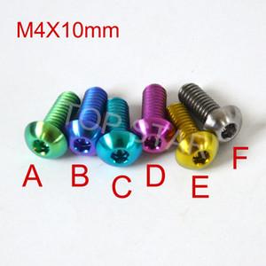 Hex Socket Head Titanium Screws Fasteners M4 x 10mm Titanium Bolt Road Bike Mtb Bike Multicolor DIY Titanium 12 PCS