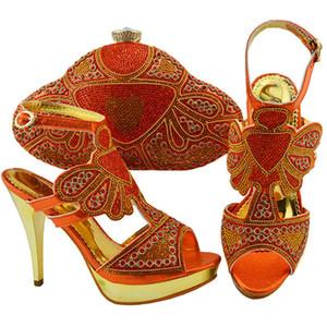 Heißer Verkauf-Neueste Passende Schuhe und Tasche In Heels Schuh und Tasche für Nigeria Party Nigerian Frauen Hochzeit Schuhe und Tasche Set Damen Schuhe