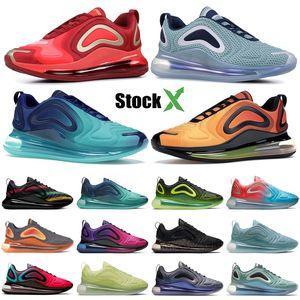 Nike air max 720 Top Hot Lava Sunrise ser verdade sapatas Running para homens Northen luzes Dia preto Neon Streaks Designer Snesaker ESPÍRITO TEAL Mulheres instrutor
