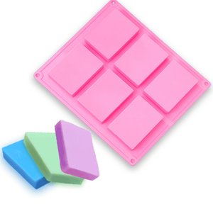 DIY Silicone rectangular cake biscuit soap ice cube mold baking tools