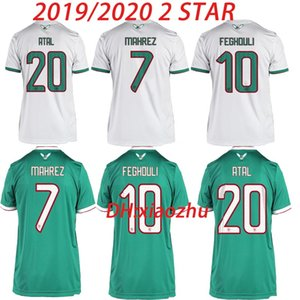 2 Star 19 20 Africa Cup 알제리 Soccer Jersey AFCON MAHREZ BRAHIMI BOUNEDJAH BOUAZZA 2019 2020 Algerie Maillot de Football Football shirt