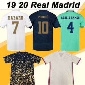 2019 2020 Real Madrid HAZARD BENZEMA SERGIO RAMOS Camisetas de fútbol MODRIC MARIANO KROOS Local Visitante 3er Camisetas de fútbol para hombre ISCO BALE Uniformes