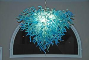 Luxury Art Glass Lighting Chandelier Nordic estilo Led vidro fundido mão Chandelier Indoor Luz Início Sala de jantar