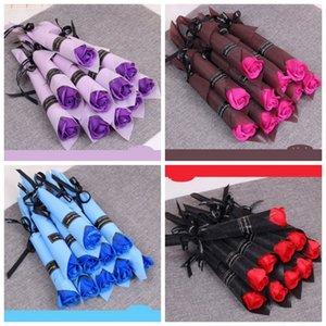 Einzelne Stem künstliche Rose Bad-Seifen-Rosen-Blumen-Blumenstrauß Valentinstag Paar Geschenke Haus Dekoration gut verkauft 0 95xl H1