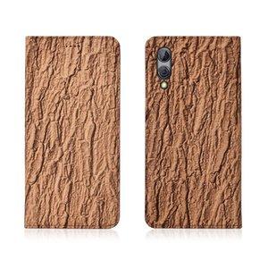 Écorce Motif En Cuir Véritable Flip Case Pour Xiaomi Black Shark 2 Téléphone Case avec titulaire de la carte Pour Xiaomi Black Shark 2 Téléphone Sac Kickstand