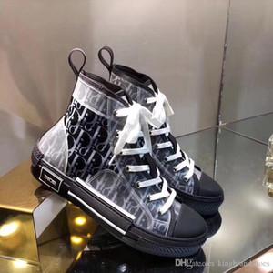 mais novos clássico luxo projeto par sapatos de alta flat top casuais sapatos de desporto de moda letras de lazer tênis preto