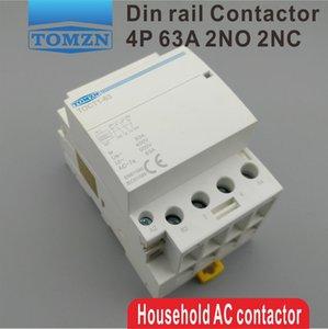 модульный контактор CT1 4P 63A 2NC 2NO 220V катушка 400V~ 50/60 Гц Din-рейка бытовой ac модульный контактор