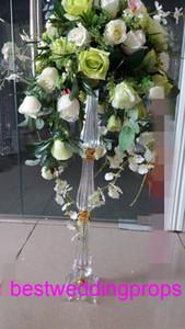 نمط جديد الديكور الداخلي الذهب الكريستال تقف لزهرة الزفاف ترتيب تقف best01031