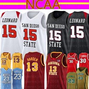 San Diego State Aztecs كلية Kawhi 15 Leonard Jersey NCAA Mens James 13 Harden 23 Lebron كرة السلة الفانيلة 8989898