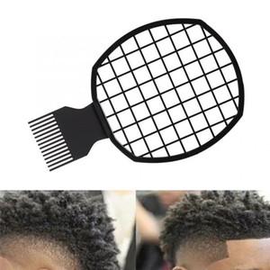 2 В 1 Грязного Braid Comb Afro Twist расчески волос Африканской Мужская Парикмахерское Afro Professional Twist волна завитых щетки Гребень 10шт