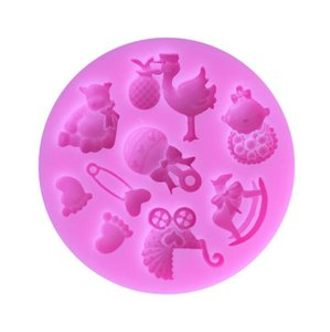 DHL baby cake mould Silicone Chocolates Jelly Fondant Paste Cooking Cake Mould Cupcake decoration baking mold Decoration Tool nx
