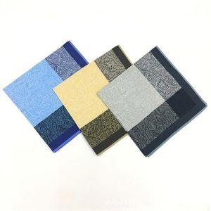12pcs Stripe Hombre Handkerchief TIC * Handkerchief Dark 43 Algodón Tac Toe 43cm SFEFP