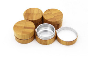 Bouteille de bambou 10g Cosmetic Cream Jar rechargeable bambou de bambou de bambou avec aluminium interne comset bocal emballage SN847