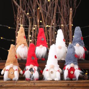 Weihnachtsmann Schneemann-Elf-Ornamente Faceless Puppe 2019 Plüsch-Puppe Favor-Partei-Dekoration für Heim Neujahr VT0919
