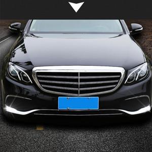 3 PC / ABS Set Pare-chocs avant chromé Plate Taille du châssis pour Mercedes Benz Classe E W213 2016-2019