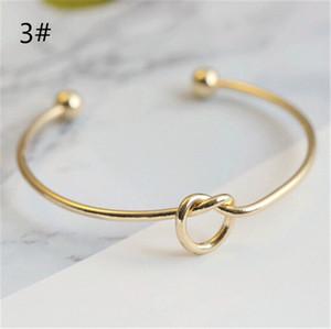 Silber Gold Ton Kupfer Erweiterbar Offenen Draht Armreifen Für liebe knoten Manschette Armbänder Armreif Für Kinder Und Erwachsene