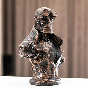[Humor] 22cm Película Anung Un Rama figura estatua de la resina de PVC Hellboy figuras cómicas Colección Niño modelo de juguete puso en la mesa o en la escultura coche