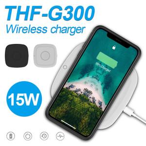 Qi Standard-Receiver quadratische Form 15W Schnelllade Wireless-Ladegerät für iPhone 11 Pro Max XR XS Galaxy Note 10 Pro USB-Ladekabel in Box