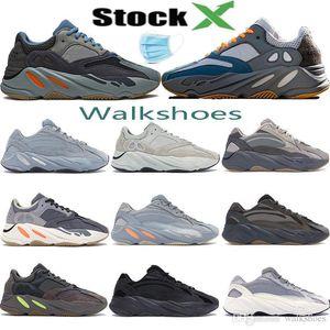 With mask Wave runner 700 Teal Carbon Blue inertia magnet vanta utility black Kanye West mens designer running shoes women ourdoor trainers