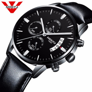Assista Moda Relógios Relógio Masculino Militar de pulso de quartzo Relógios baratos Relógio Masculino Sports NIBOSI Men Watch Top Marca de homens