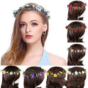 Festa di Natale Bohemian capelli corone fasce del fiore delle donne floreali artificiali Hairbands Accessori per capelli Beach Wedding Ghirlande