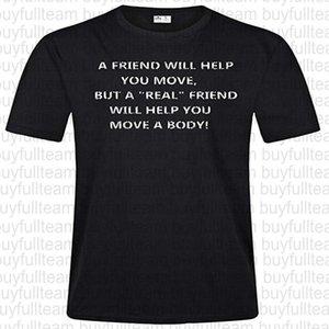 Um amigo irá ajudá-lo mens negros mangas curtas tops moda em torno do pescoço camiseta tamanho s m l xl 2xl 3xl